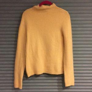 Mock turtleneck cream angora sweater.